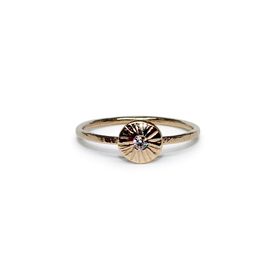 Day Ring | Gold + Moissanite