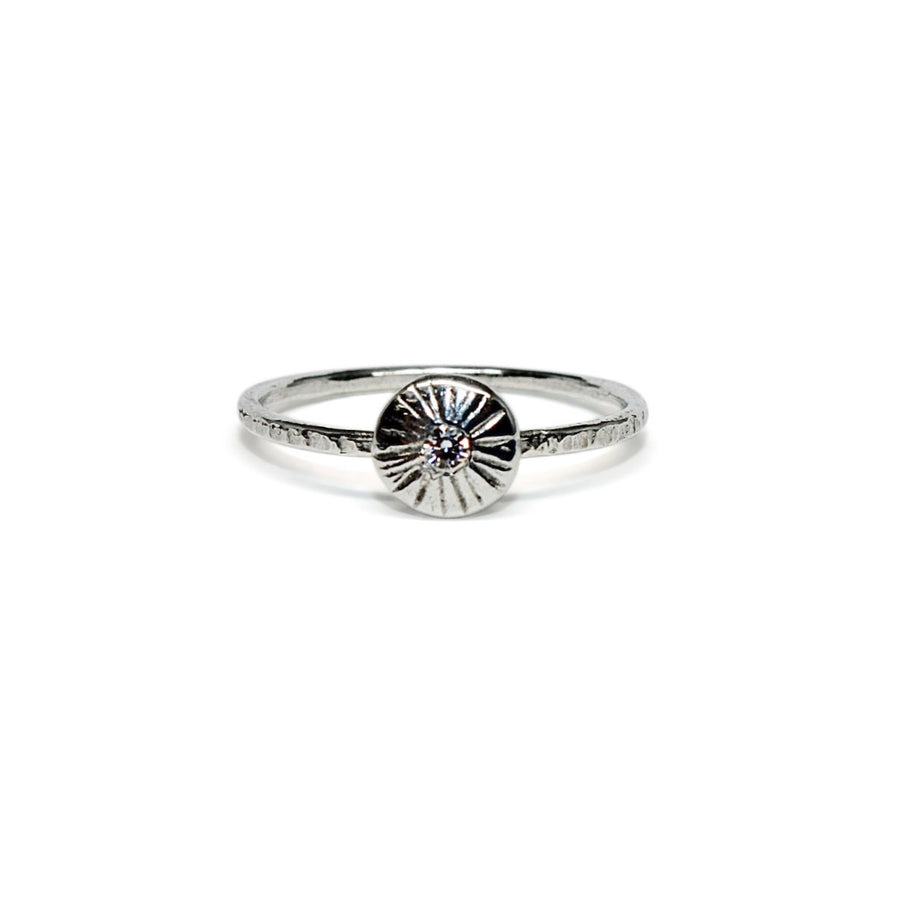 Day Ring | Silver + Moissanite