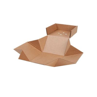 "Brown Burger Box XL, Kraft, 5"" x 5"" x 4"" (100 pcs.) - Naturally Chic"