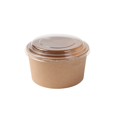 Round cardboard containers, 32oz, brown (300pcs.) - Naturally Chic