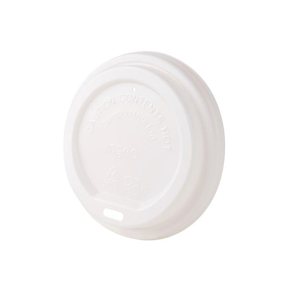 "Bio coffee cup lids (CPLA), 3.5"" (1000 pcs.) - Naturally Chic"