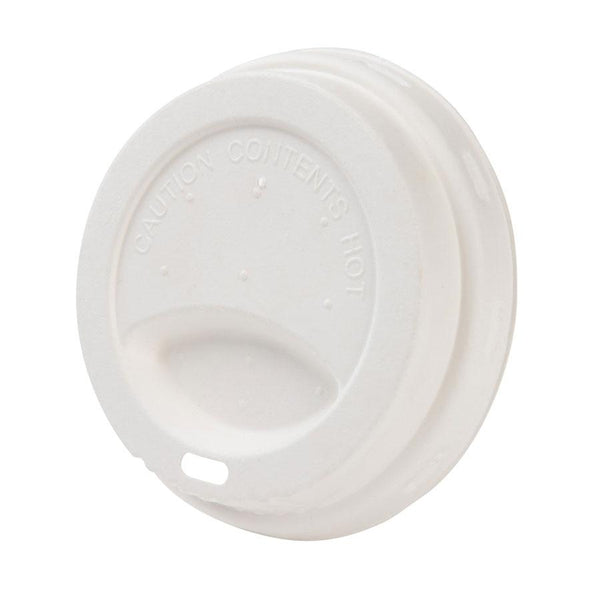 "Bagasse coffee cup lids 3.5"" (1000 pcs.) - Naturally Chic"