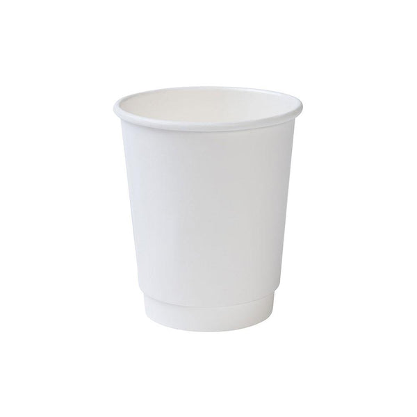 White double wall paper cups, 8oz (500 pcs.) - Naturally Chic