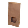 "Brown block bottom bags ""M"" with window & tin-tie (400 pcs.) - Naturally Chic"