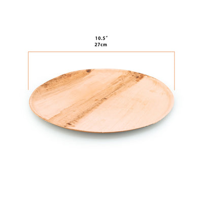 "Round palm leaf serving trays, 11"" diam. (100 pcs.) - Naturally Chic"