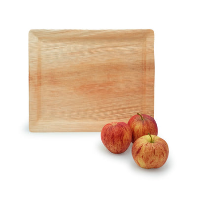 "Rectangle palm leaf serving trays, 12""x10"" (100 pcs.) - Naturally Chic"