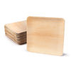 "Square palm leaf plates,  9"" (200 pcs.) - Naturally Chic"