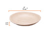 "Round palm leaf plates, 6"" dia. (200 pcs.) - Naturally Chic"