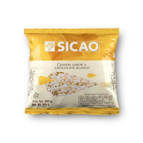 Chispas sabor chocolate blanco