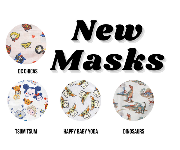 El Bebe Yoda...and Loteria?? 10 New Face Masks!