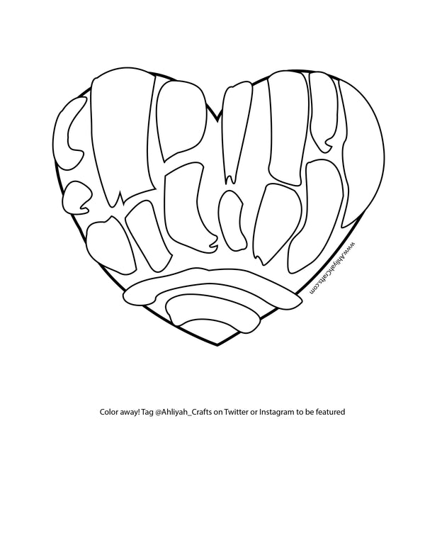 Free Concha Coloring Page!