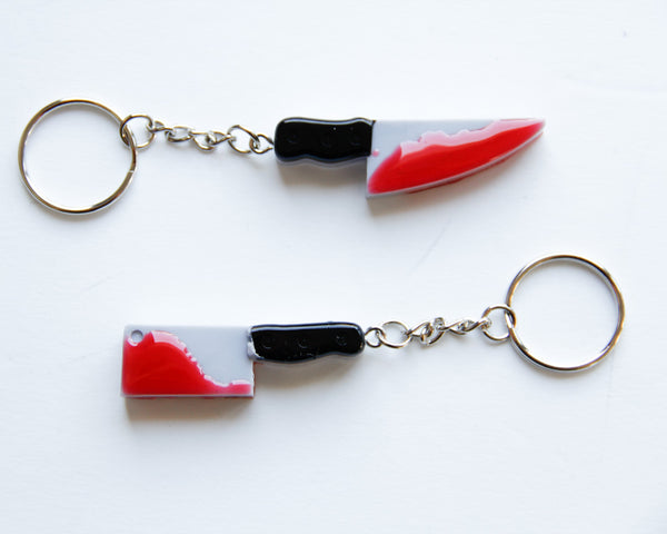 Bloody Knives Keychain