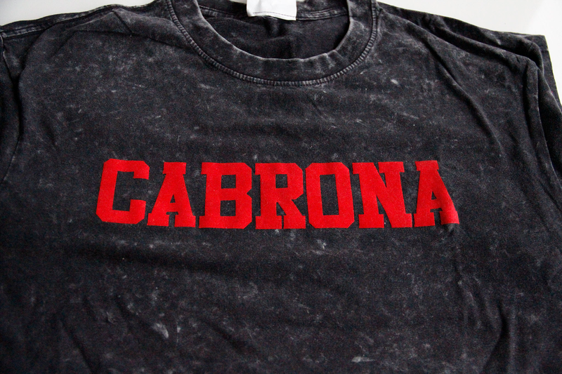 Red Cabrona Lettered Shirt