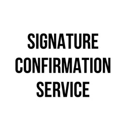 Service: Signature Confirmation through USPS