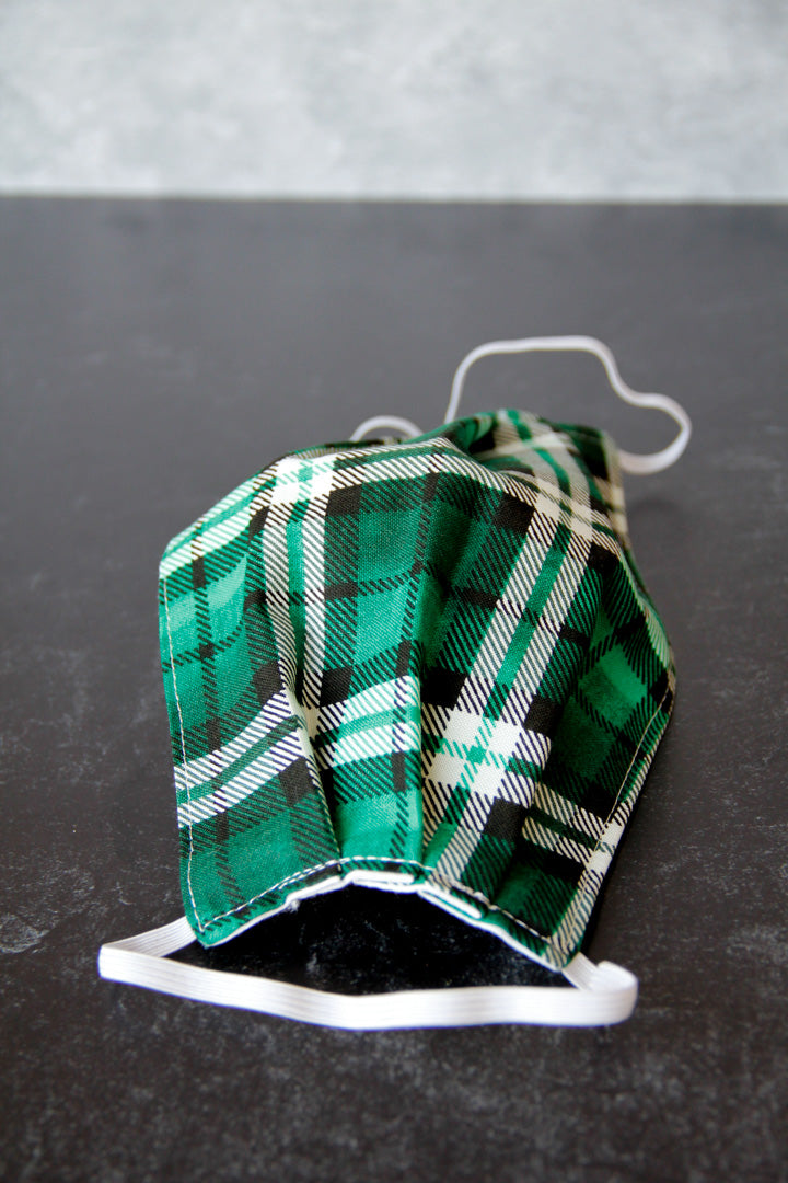 Green Flannel Mask