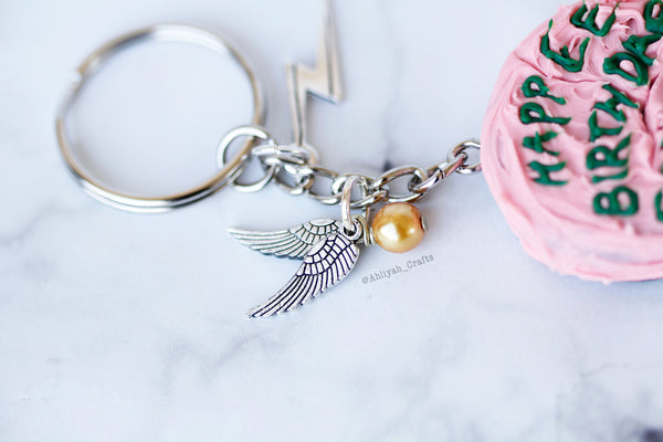 Harry Potter Cake Keychain