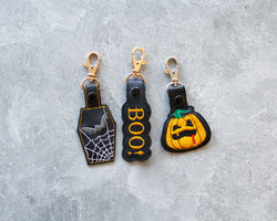 Halloween Embroidered Key Fobs