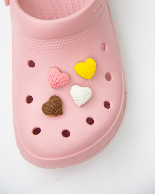 Handmade Heart Shaped Concha Shoe Charm (Limited Edition)