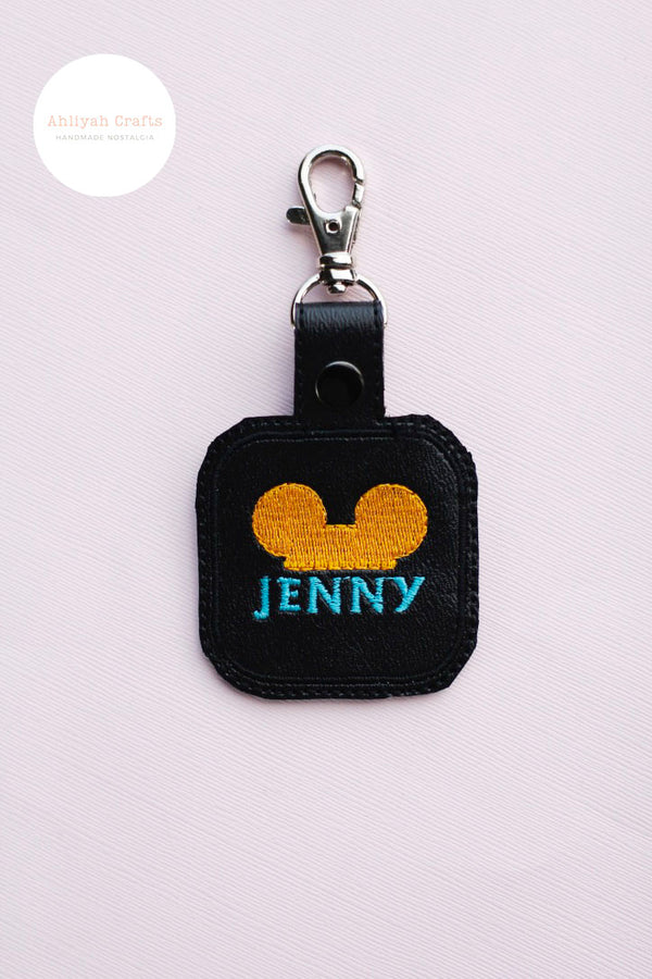 Customizable Name Mickey Keychain