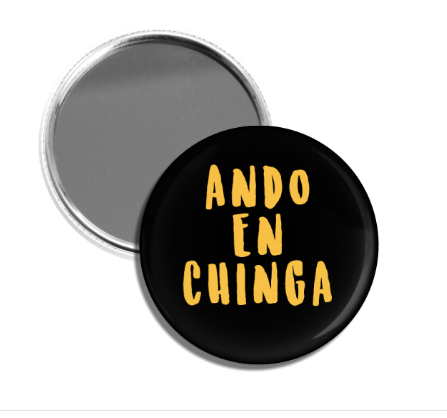 Ando En Chinga Hand Held Mirror
