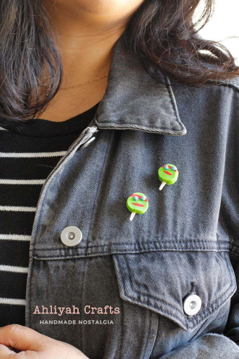 Handmade Teenage Mutant Ninja Turtle Paleta Pin