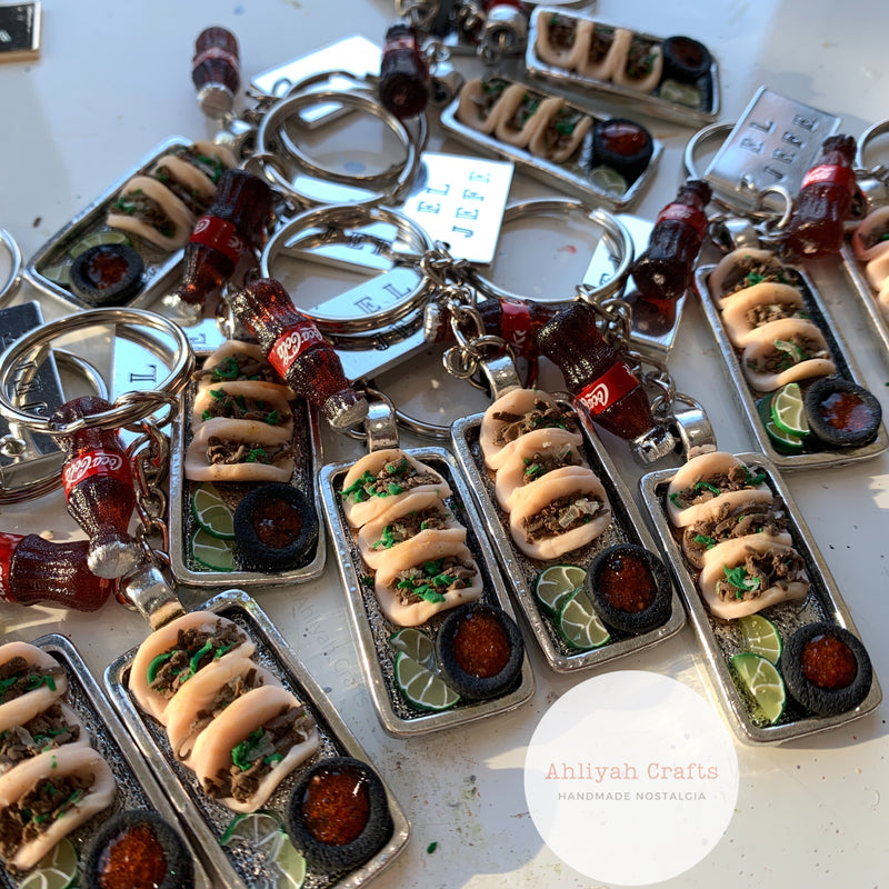 Mini Taco Keychain with Beer