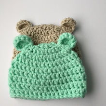 Winter Bear Hat made to order; Baby, Child & Adult Crochet Beanie Hat with Bear Ears; Unisex Crochet Hat; Adult