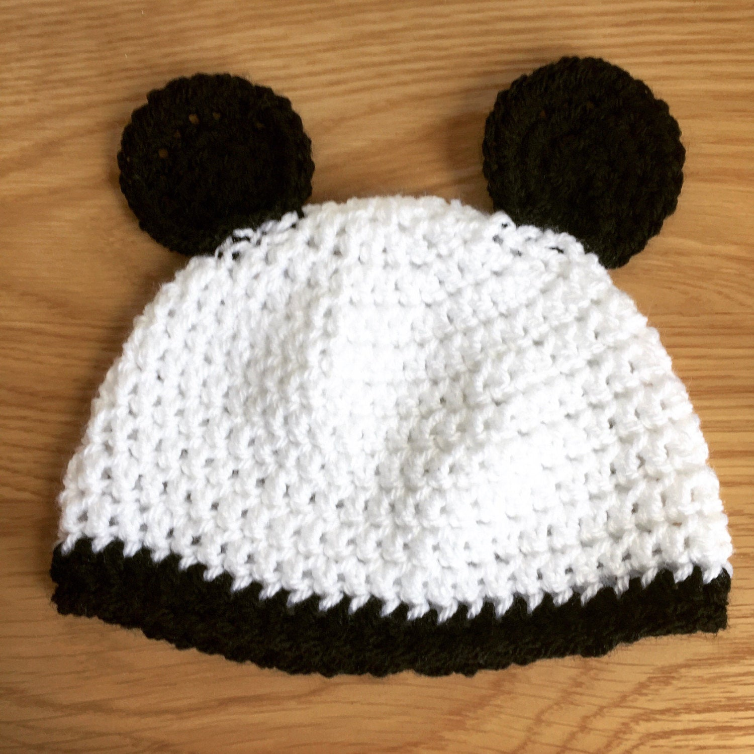 Winter Panda Hat made to order  Baby 9b202e43a59