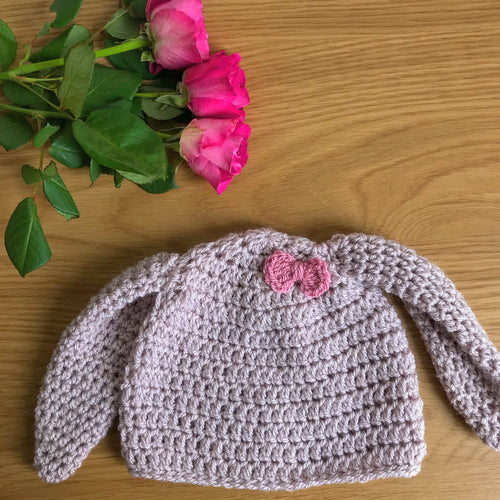 Rabbit ears beanie hat