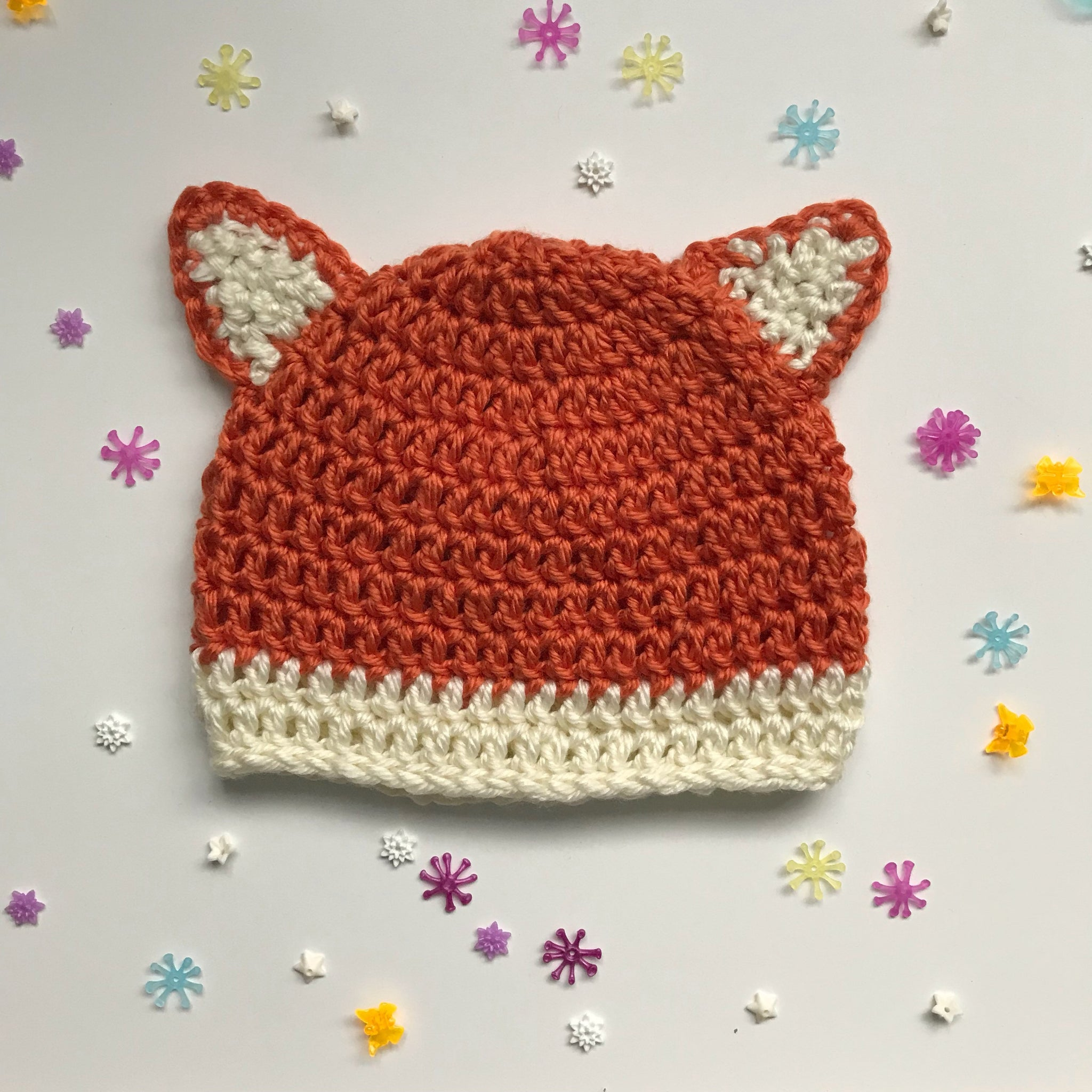 825b3ece417 Winter Fox Hat made to order  Baby