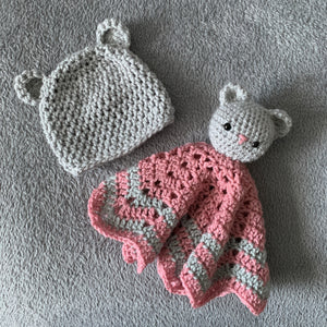 Teddy Bear Comforter and Hat Gift Set