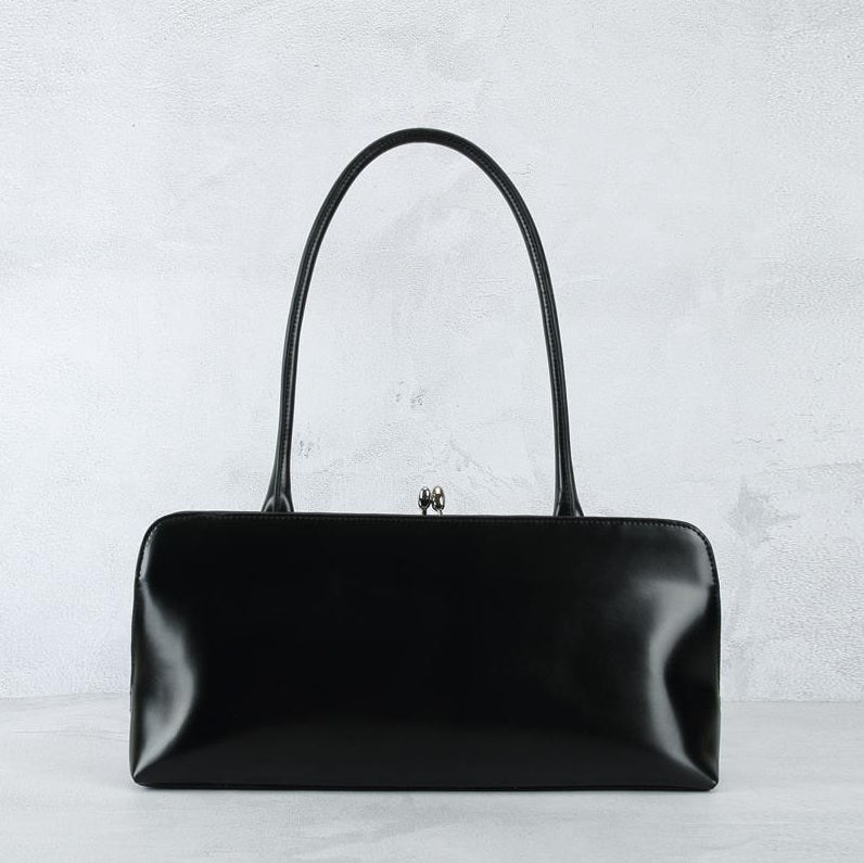 Black Leather Side View