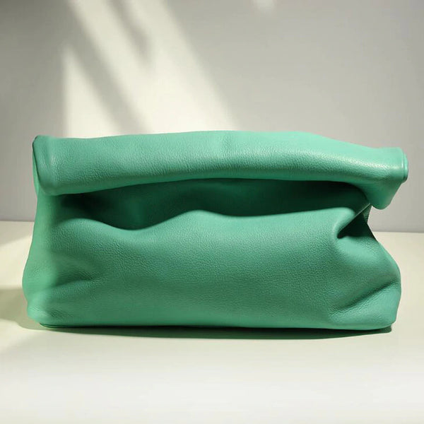 Light Green Leather Pouch