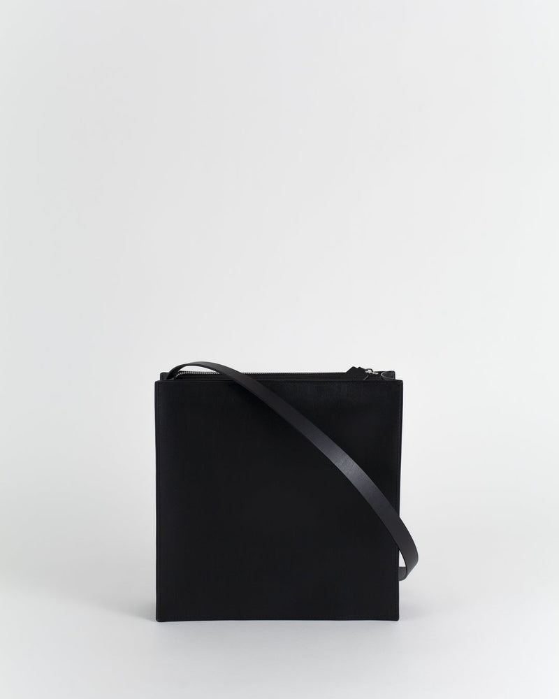Boom Black Leather Bag