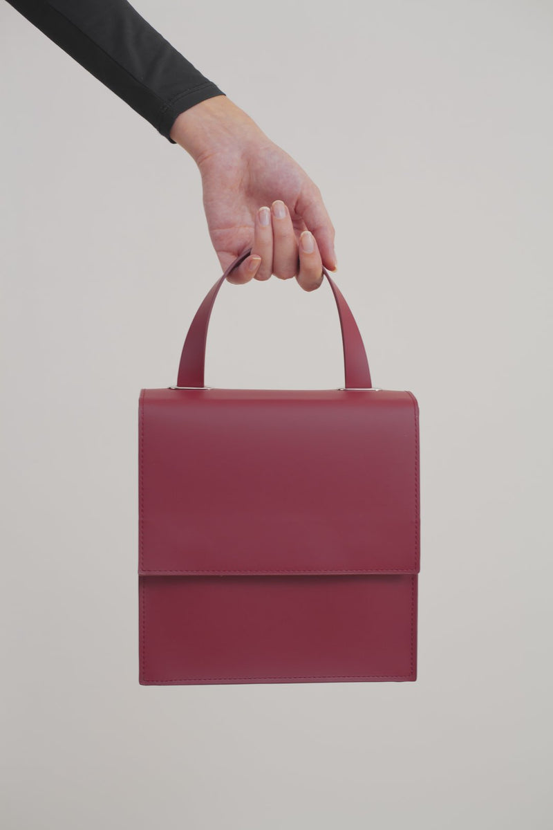 Wine-red Leather Bag
