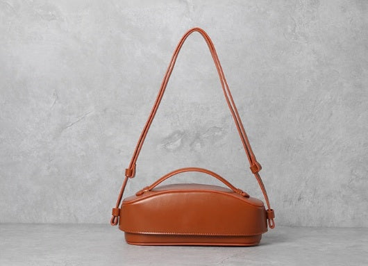 Brown Leather Bag Side View