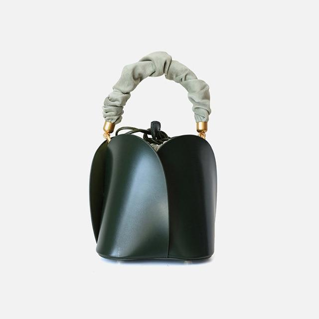 Green Leather Bucket Bag