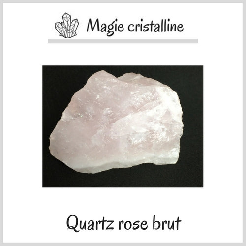 Cristaux quartz rose brut