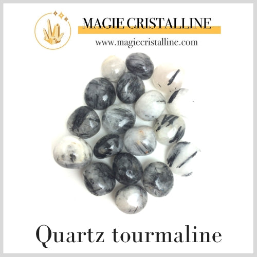 Quartz tourmaline multi