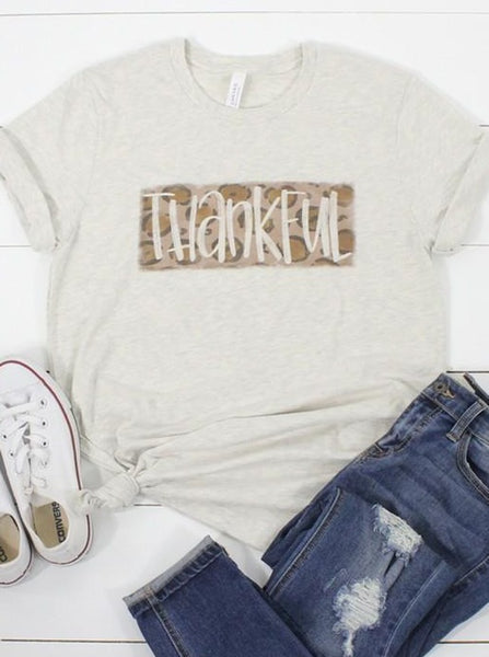 Thankful Leopard Print Tee