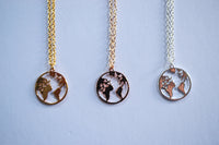 World Map Wanderlust Necklace