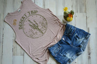 Hot Blooded Desert Trip Sleeveless Tee's