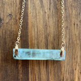 Stone Bar Charm Necklace