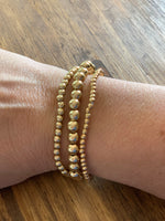 Gold or Silver Bead Bracelet sets