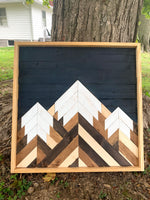 Three Peaks - Mountain Wood Wall Art 24 x 24