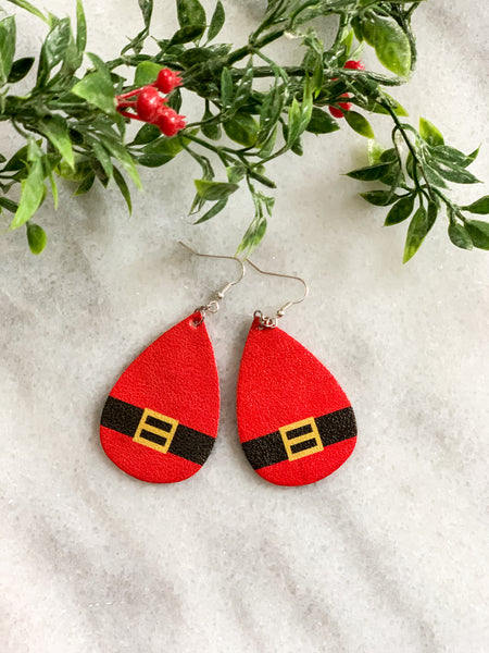 Santa Leather Earrings