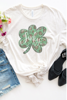 Shamrock Lucky Animal Print T