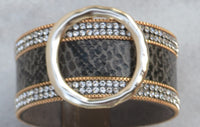 Got My Mind Set On You Snakeskin Cuff Bracelets