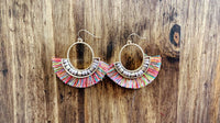 Colorful Fringe Earrings with Beaded Detail