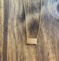 Rectangle Gold or Silver Necklace